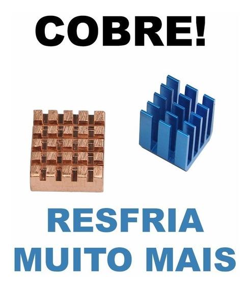 10 Kits Com 2 Dissipadores De Cobre Raspberry Pi - Arduino