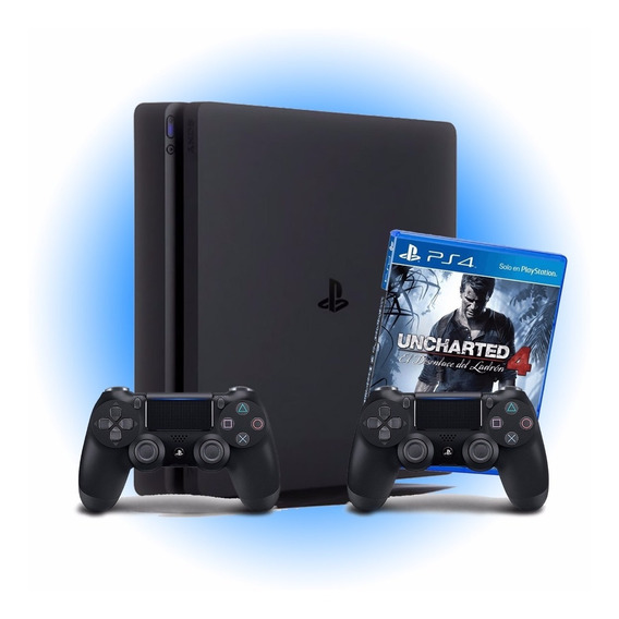 Ps4 Slim 1tb + 2 Controle + Uncharted Iv