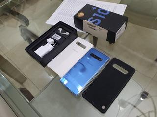 Samsung Galaxy S10 Plus Azul, 128gb - Tela Trincada!!