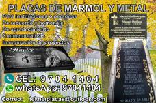 Placas Lapidas De Mármol, Metal Y Granito