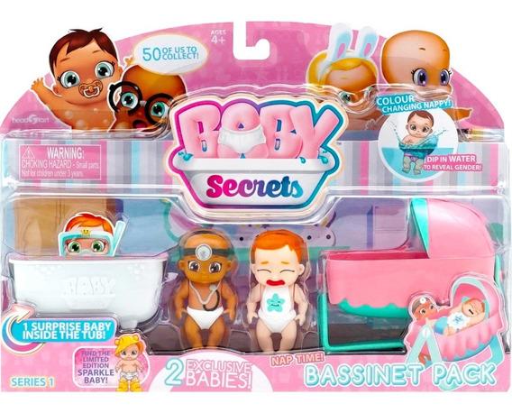 Mini Bonecas E Acessórios - Baby Secrets - Hora Da Soneca -