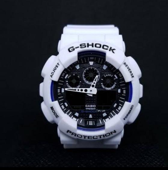 Relógio Masculino Automático Branco Lançamento Anti Shock