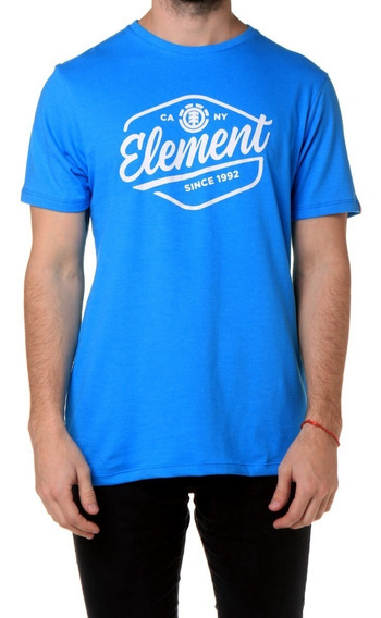 Remera M/c Element Swash Tee Blue Hombre - 21197002