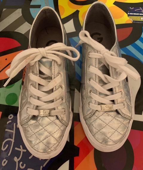 Zapatillas Guess Plateadas Muy Buen Estado!!! De Usa Directo