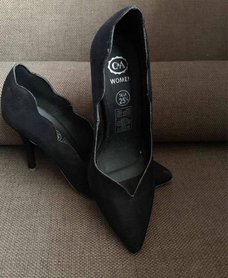 Zapatillas De Tacón De Aguja Negras