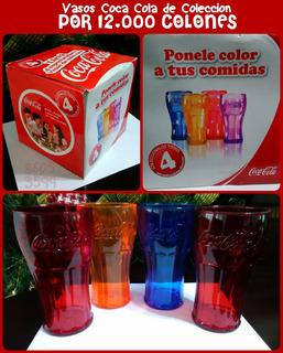 4 Vasos Coca Cola De Colección