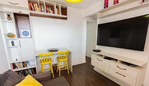 Apartamento Com 2 Dormitórios À Venda, 47 M² Por R$ 410.000,00 - Pompeia - São Paulo/sp - Ap0124