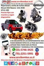 Reparación De Turbos Nissan Navara Zd30 3.0l/d22 Guatemala
