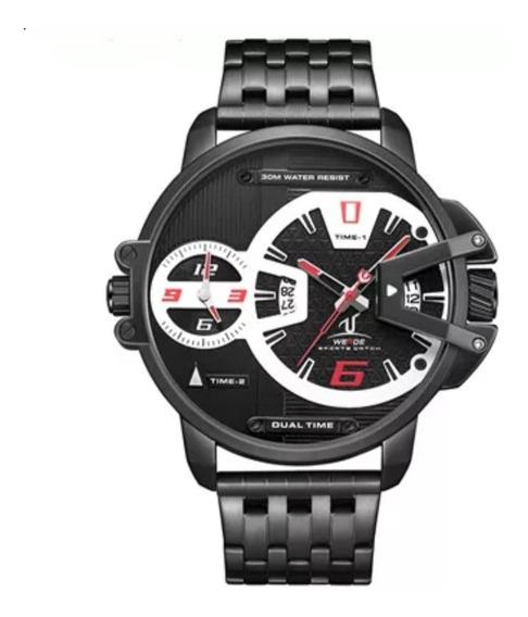 Relógio Masculino Preto Original 100% Funcional Estojo Metal