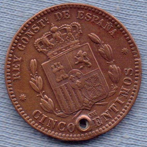 España 5 Centimos 1878 * Alfonso Xii *