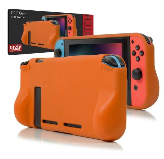 Case Nintendo Switch Funda Protector Silicona Rigida Orzly