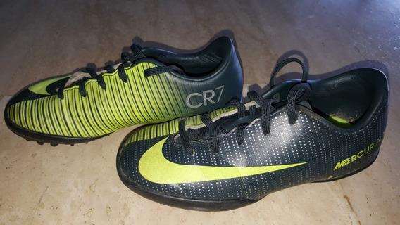 Zapatos Nike Microtacos Originales, Modelo Cr7 Mercurial