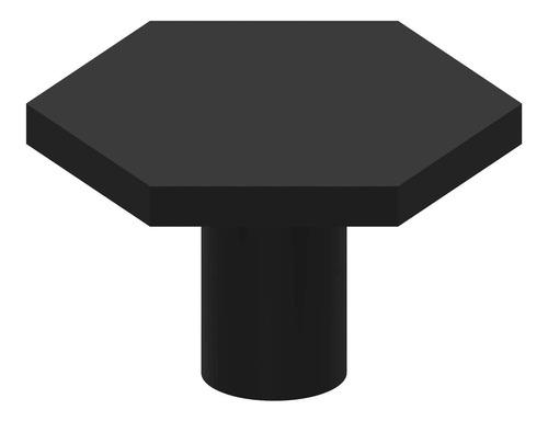 Imagen 1 de 1 de Trust4carejuego De 12 Pomos Hexagonales Negros Planos Para A