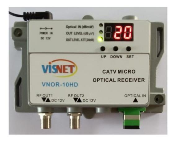 Receptor Óptico Catv Fttx - 40-1000mhz -2 Rf - 1310 ~ 1550nm