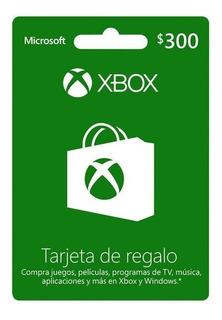 Tarjeta Xbox Argentina $300. Gift Card Xbox. Incluido El Iva
