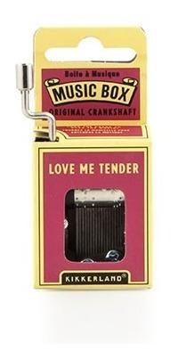 Kikkerland Juegos Caja Musical Love Me Tender Melody