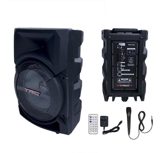 Caixa Som Portátil Bluetooth 220w Trc5522 Biv + Microfone