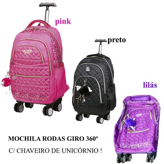 Mochilete Feminina (g) Escolar 4 Rodas Giro 360 (2x1) Mc3765