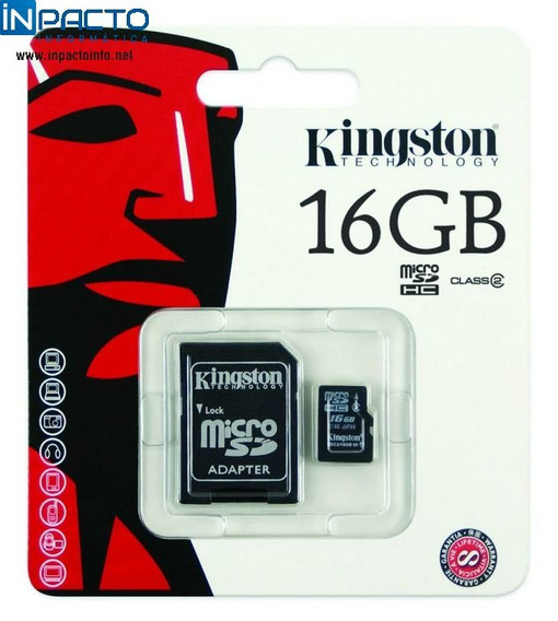 Cartão Memoria Kingston Sdc4 16gb Microsd/sd