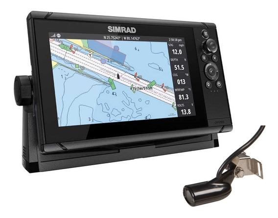 Gps E Sonda Simrad Cruise 9 C/ Transdutor 83/200 Khz + Chirp