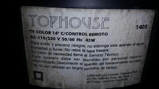 Tv Color Tophouse 14 Pulg, Liquido, Oportunidad!