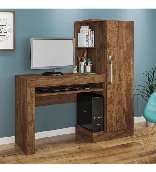 Mesa Para Computador 1 Armário E Prateleira Office Eh