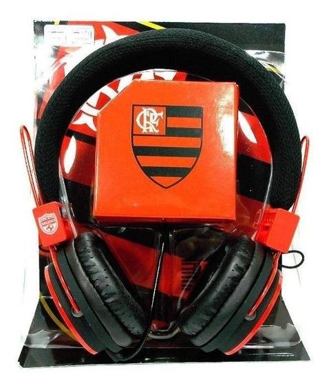 Fone De Ouvido Oficial Do Flamengo Headphone Com Microfone