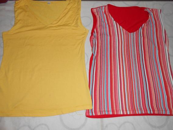 Son 2 Musculosas Amarilla Y Otra Muy Bonitas!!