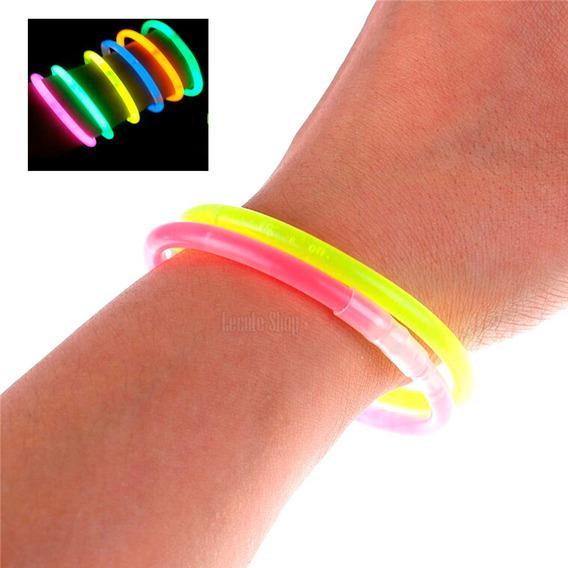 90 Pulseras Luminosas Cyalume Neon Varios Colores Fiesta