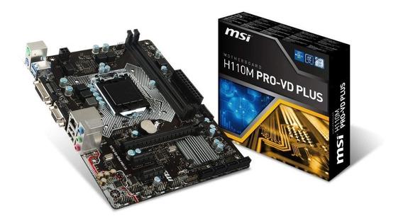 Tarjeta Madre (65d) Msi H110m Pro-vd Socket Intel 1151 Nueva