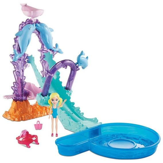 Boneca Polly Pocket Parque Aquático Golfinho Fnh13 - Mattel