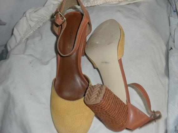 Sapato Feminino Constance 36 Bico Redondo Salto Médio Grosso