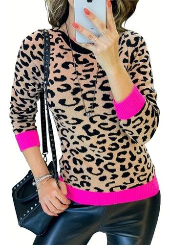 Imagem 1 de 4 de Blusas Femininas Tricot Trico Modal Animal Print Neon Zebra