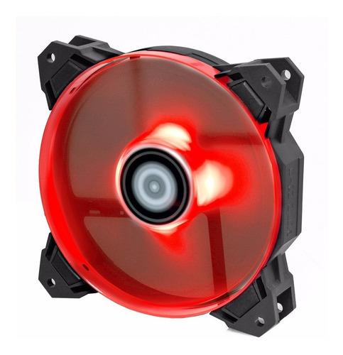 Imagen 1 de 9 de Cooler 120mm Id-cooling Pwm 1500rpm 62 Cfm Con Leds Rojos