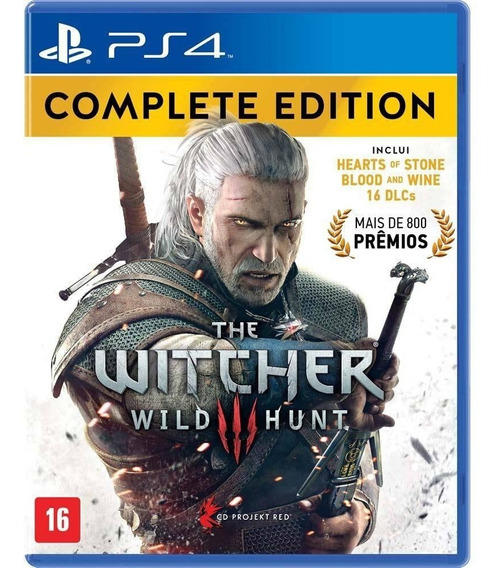 The Witcher 3 Complete Edition - Ps4 - Mídia Física - Novo