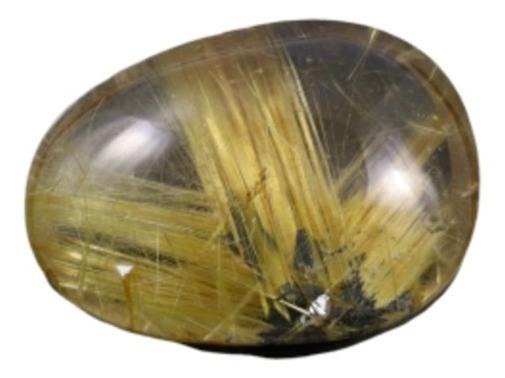 112,50 Cts Lindo Quartzo Rutilado Facho Dourado 41,8x30,8 Mm