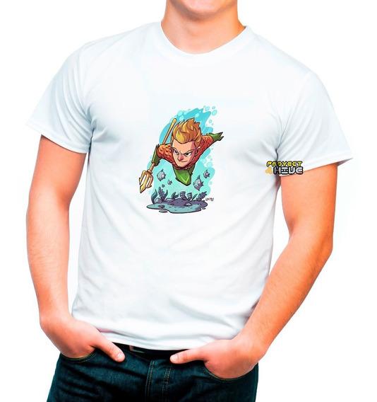 Playera Dc Comics Acuaman Liga De La Justicia