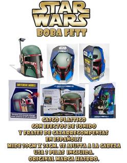 Casco Boba Fett Star Wars Originl Hasbro Coleccion Nuevo