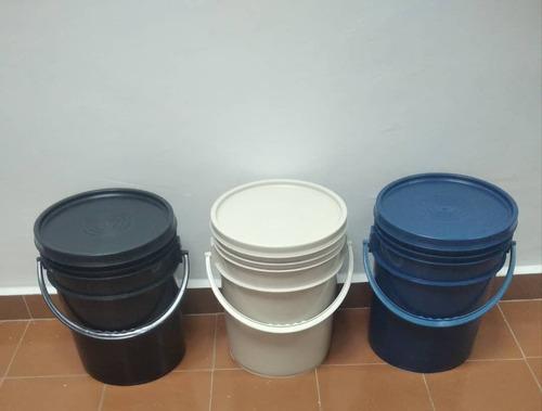Paila Cuñete Industrial 5gal Beige Negro Azul Tapa Lisa