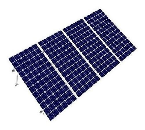 Imagen 1 de 5 de Kit Bases Para 4 Paneles Solares Inclinación 15 A 30 Grados
