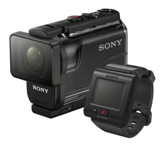 Filmadora Sony Hdr-as50r Com Controle + Tripé - Usada