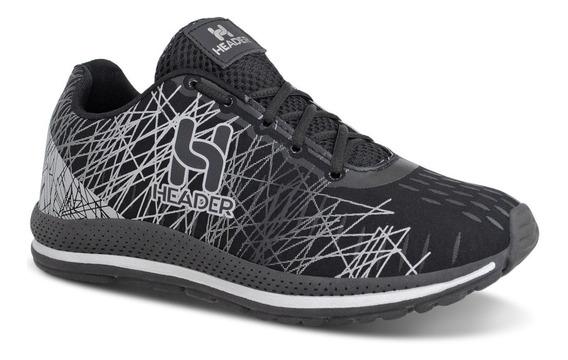 Tênis Masculino Header Spider Caminhada Academia Super Leve