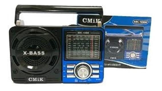 Rádio Portátil Am Fm Sw Cartão De Memória E Pen Drive. Entrega Imediata