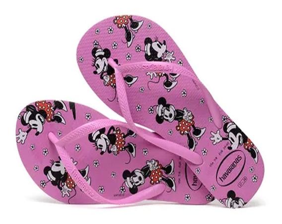 Chinelo Havaianas Slim Disney Original Lançamento Legitimas