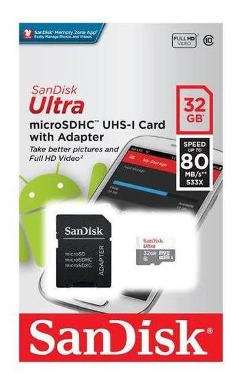 Cartão Sd 32 Gb Sandisk Ultra Original Classe 10