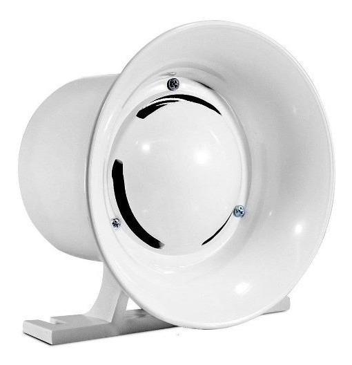 Sirene Branca Compacta Alarme Alta Potência 120db 12v Tf