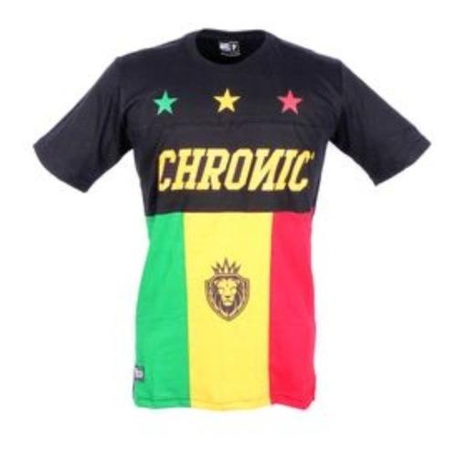 Imagem 1 de 2 de Camiseta Unissex Preta Reggae Star Chronic