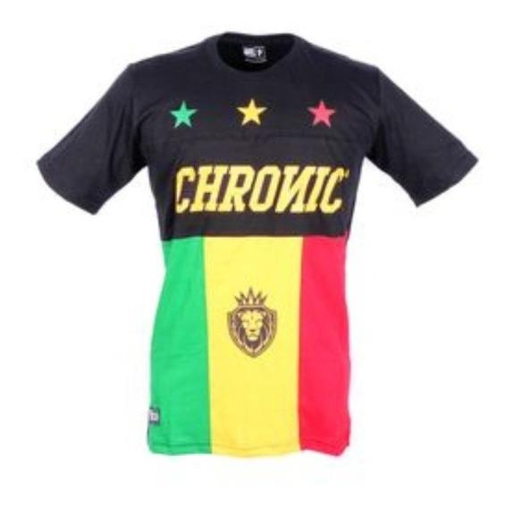 Camiseta Unissex Preta Reggae Star Chronic