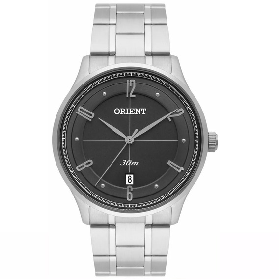 Relógio Orient Masculino Grafite Aço Original Mbss1292 G2sx
