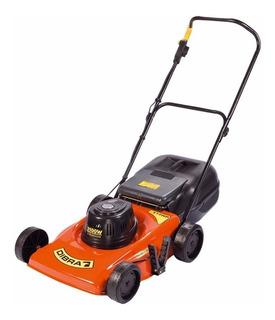Cortadora de pasto eléctrica Dibra R60 con bolsa recolectora 2100W naranja y negra 220V